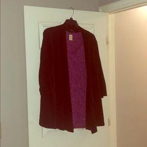 Ellen Tracy Black Cardi Jacket 3x